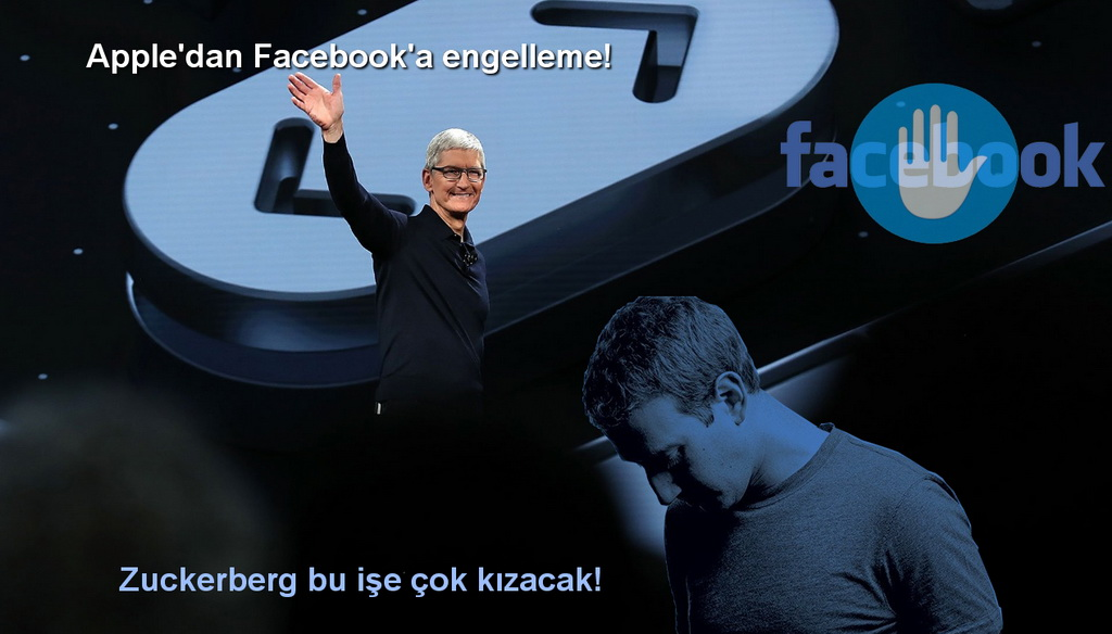 aplle tim cook facebook mark zuckerberg Apple, Facebook'un yoluna taş koyuyor!